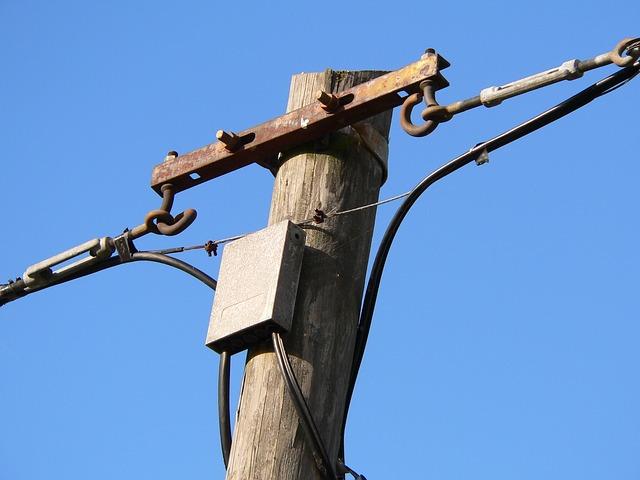 telegrafní sloupy