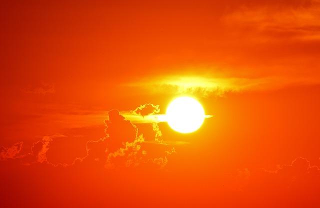 rudé slunce